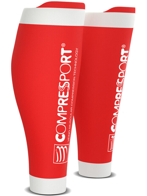 Compressport R2V2 Oxygen Calf Sleeves Red